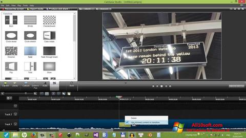 Screenshot Camtasia Studio Windows 10