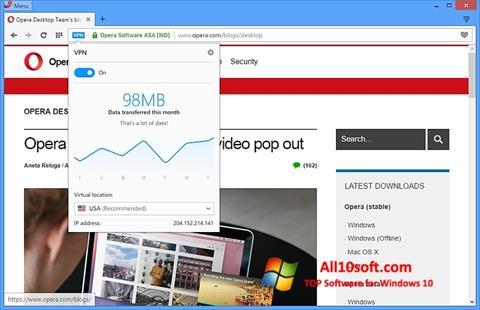 Screenshot Opera Windows 10