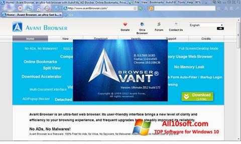Screenshot Avant Browser Windows 10
