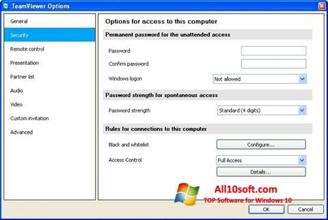 Screenshot TeamViewer Windows 10
