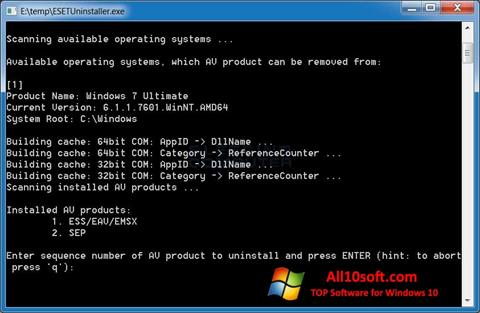 Screenshot ESET Uninstaller Windows 10