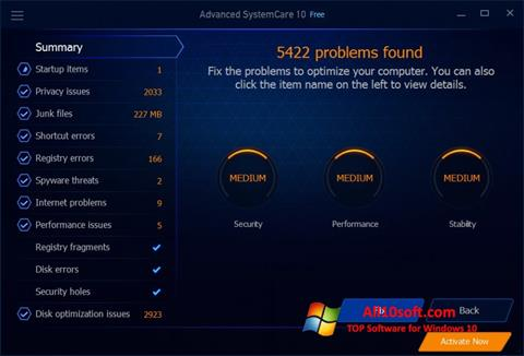Screenshot Advanced SystemCare Free Windows 10