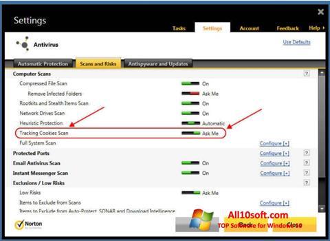 Screenshot Norton Windows 10