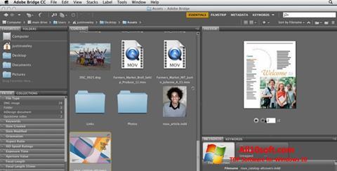 Screenshot Adobe Bridge Windows 10