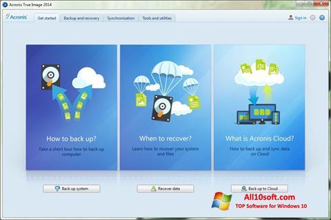 Screenshot Acronis True Image Windows 10