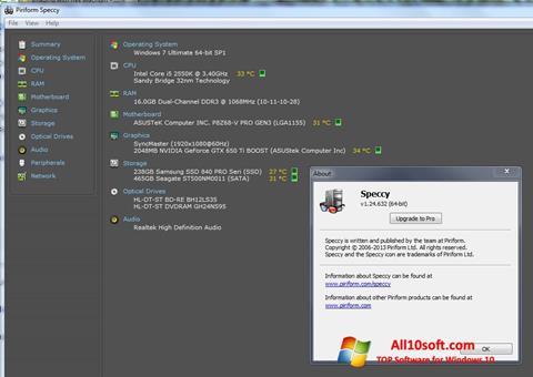 Screenshot Speccy Windows 10