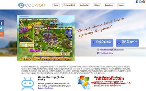 Screenshot Coowon Browser Windows 10