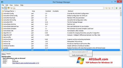Screenshot ActivePerl Windows 10