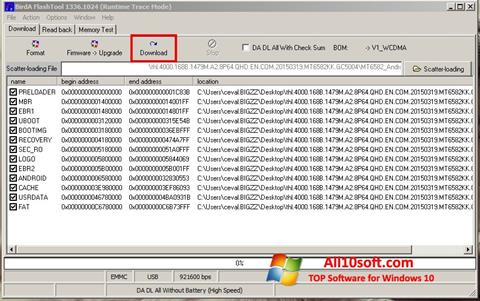 Screenshot FlashTool Windows 10