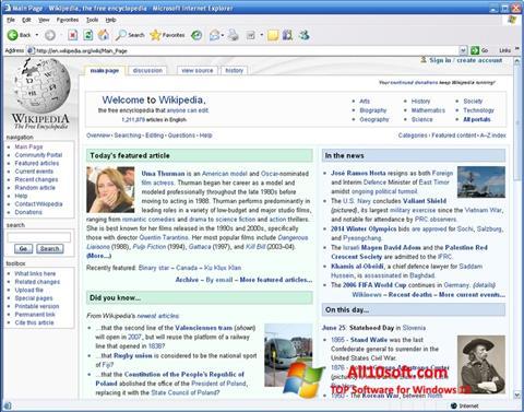 Screenshot Internet Explorer Windows 10