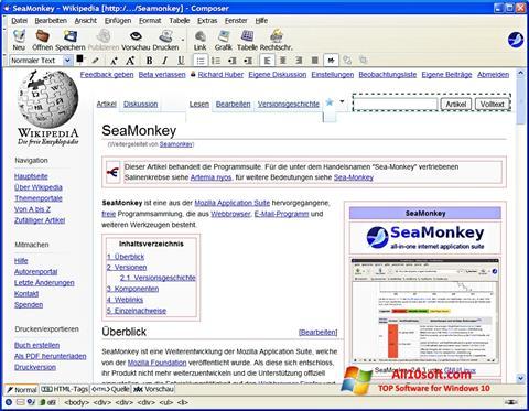 Screenshot SeaMonkey Windows 10