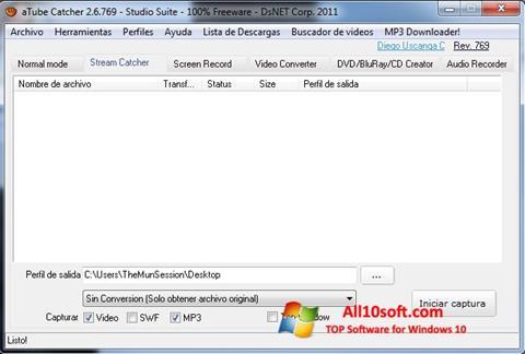 Screenshot aTube Catcher Windows 10