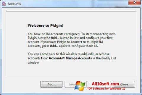 Screenshot Pidgin Windows 10