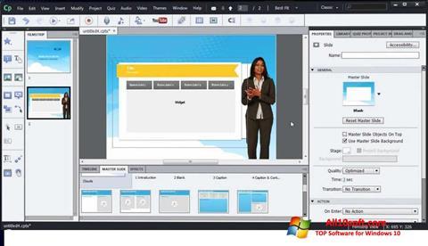 Screenshot Adobe Captivate Windows 10