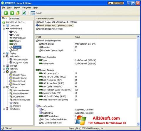 Screenshot EVEREST Home Edition Windows 10
